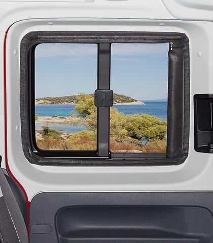 FLYOUT Moskitonetz VW Caddy 4/3 Schiebefenster