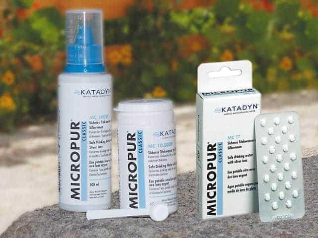 Micropur Tabletten, flüssig, Pulver zur Wasserentkeimung
