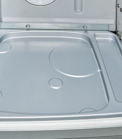"""Campingtoilette """"Porta Potti 335 Qube""""mit Haltegurtgriff und Toilettenwanne für alle VW T6/T5 California mit Spülschrank"""