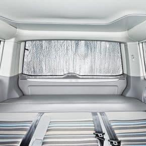 ISOLITE Inside: Isolierung Heckklappenfenster VW T5 mit PKW-Verkleidung