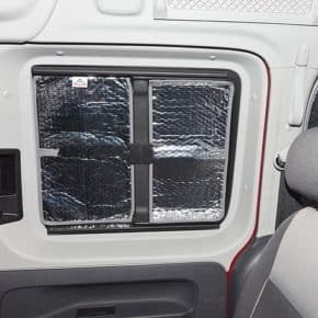 Brandrup Insulation for VW Caddy 4/3 - Our online shop offers a large selection of vehicle accessories Brandrup ISOLITE Inside insulation for the sliding window in the sliding door of the VW Caddy 4 - Wiest online shop for accessoires