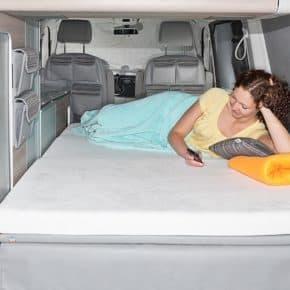"""iXTEND Spannbettlaken für iXTEND Faltbett im VW T6/T5 California, Design """"Nicki-Plüsch"""", Art.Nr.:100707600"""