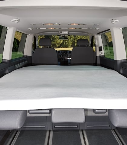 "iXTEND Faltbett Spannbettlaken VW T6/T5 Multivan und California Beach, Design ""Nicki-Plüsch"", Art.Nr.: 100707602"