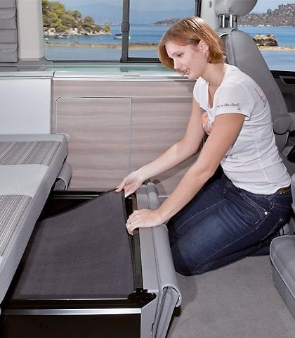 Geräuschdämm-Matte für Bettkasten-Schublade VW T6/T5 California Ocean, Coast, Comfortline, Art.Nr.:100708506