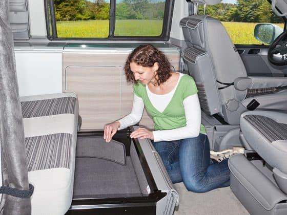 Geräuschdämm-Set (seitlich) für Bettkasten-Schublade VW T6/T5 California Ocean, Coast, Comfortline