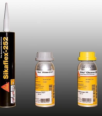 Sikaflex Kleber 252 für TOP-RAIL (eine Kartusche reicht für 1 TOP-RAIL), schwarz, Art.Nr.: 100711252