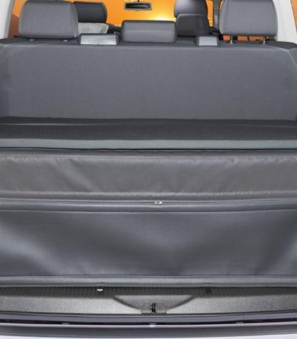 """FLEXBAG Heckabschluss VW T6/T5 California Beach/Multivan Kofferraum mit 3er-Bank und Multiflexboard, Design """"Titanschwarz"""""""