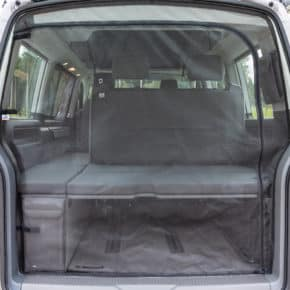 Mosquito net for the tailgate of the VW T6.1 / T6 / T5 Multivan and California Beach. Online shop for Brandrup Camper- and Vanequipment