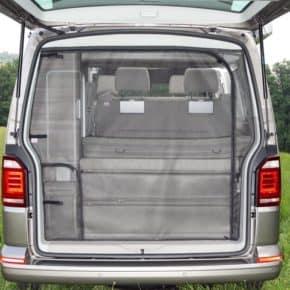 FLYOUT Insektenschutz für VW T6/T5 California (ohne Beach): Heckklappen-Öffnung