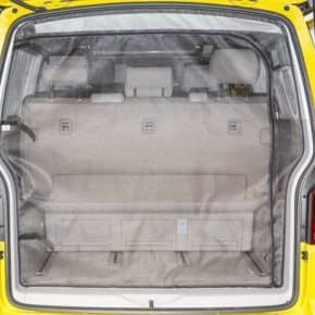 FLYOUT mosquito net for tailgate of the VW T6 / T5 Multivan from 2010 / California Beach from 2011