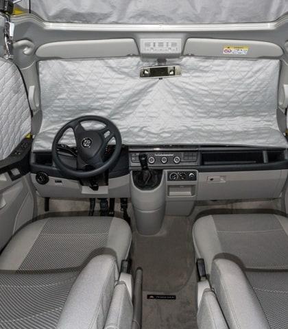 ISOLITE Extreme für Fahrerhausfenster VW T6 mit Sensoren im Innen-Rückspiegel, ISOLITE Extreme Fahrerhausfenster VW T6 ohne Sensoren im Innen-Rückspiegel