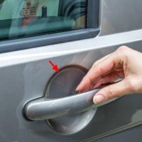 Schutzfolie Türgriff-Mulden VW T6/T5, VW Caddy, transparent, 4 Stück