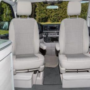 "Second Skin Schonbezug Fahrerhaussitze VW T6 California Coast, Design: ""Visitamo/Moonrock"", Art.Nr.:100705743"