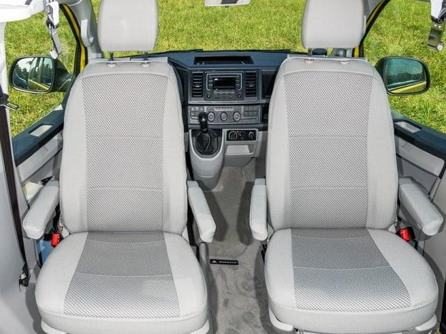 """Second Skin Schonbezug VW T6 California Beach Fahrerhaussitze , Design: """"Pilion/Moonrock"""", Art.Nr. 100705746"""