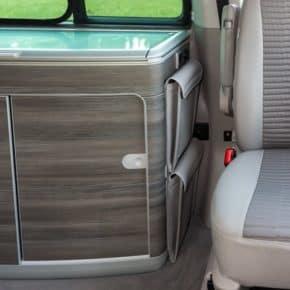 """UTILITY Taschen zur Anbringung seitlich am Spülschrank VW T6/T5 California, Design: """"Leder Moonrock"""", Art.Nr.:100706752"""