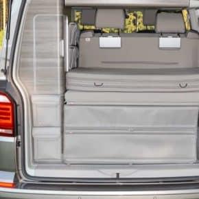 """UTILITY Taschen für den Kleiderschrank Heck VW T6/T5 California, Design:""""Leder Moonrock"""", Art.Nr.: 100706759"""