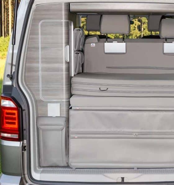 "UTILITY Tasche für den Kleiderschrank Heck, Duschtasche VW T6/T5 California, Design: ""Leder Moonrock"", Art.Nr.: 100706764"