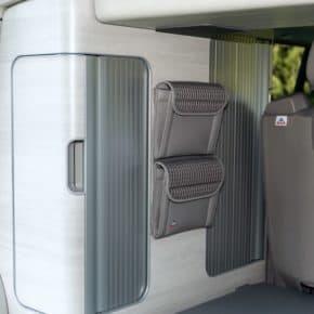 """UTILITY Taschen für Kleiderschrank California Coast, VW T6, im Design: """"Visitamo/Leder Moonrock"""", Art.Nr:: 100706770, 100706769"""