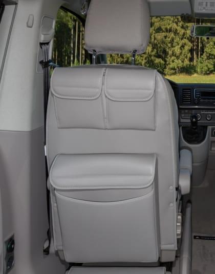"UTILITY Taschen mit Multibox Maxi für Fahrerhaussitze VW T6/T5 California Beach/Multivan, Design ""Leder Moonrock"" Art.Nr.:100706776"