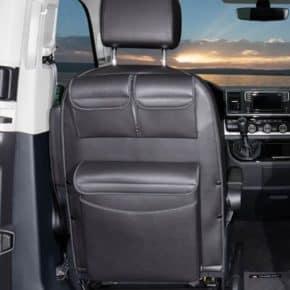 """Utility für Fahrersitz Multivan/ California Beach mit MULTIBOX Maxi für VW T6/T5, Design """"Leder Titanschwarz"""", Art.Nr.: 100706791"""