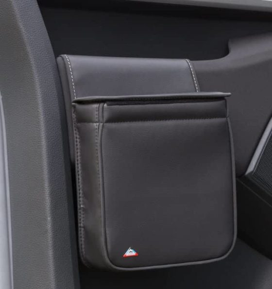 """MULTIBOX for the left cab door in the VW T6 waste bin and / or insulating bag in the design """"Leather Titanium Black"""""""