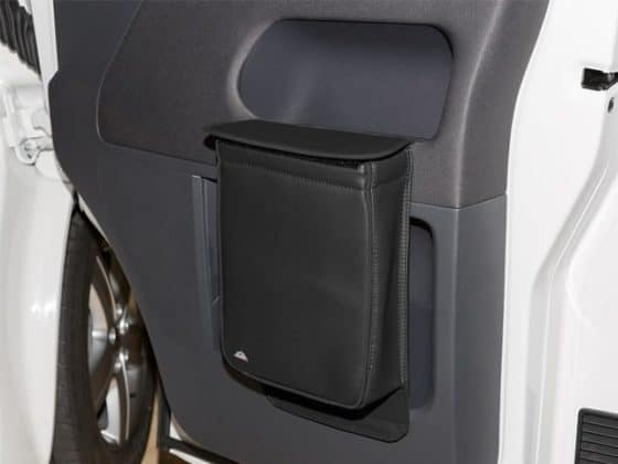 """MULTIBOX für Fahrerhaustüren, VW T5 Isoliertasche und/oder Abfallbehälter, Design """"Leder Titanschwarz"""", Art.Nr.:100706795"""