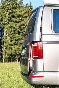 Heck-Aufsteller für alle VW T6/T5 mit Zuziehhilfe
