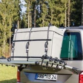 "FLEXBAG Cargo, version for original VW T6 / T5 rear luggage rack 7E0 071 104 FLEXBAG Cargo rear carrier bag, fits the original VW T6 rear luggage rack 7E0071104 in the design ""Moonrock"""
