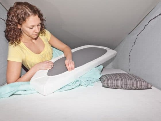 """iXTEND Fitted sheet without recess for reading light, for mattress in the roof VW T6 / T5 California, design """"SingleJersey"""", iXTEND Fitted sheet: cover mattress roof without recess for reading light VW T6 / T5 California, design """"Nicki plush"""""""