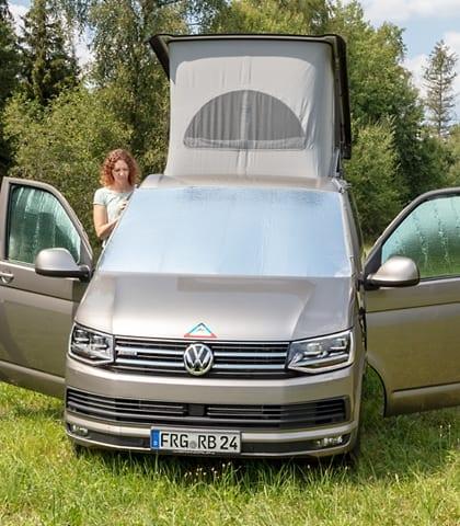 ISOLITE Outdoor plus VW T6/T5: 1 x ISOLITE Outdoor + 2 x ISOLITE Inside für Fahrerhaus-Seitenscheiben