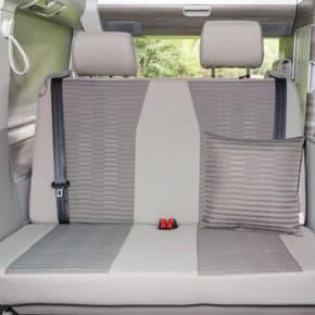 """Second Skin für die 2er-Bank VW T6/T5 mit Aussparung für Isofix-Halterungen ab Mitte 2018, Design California Ocean """"Valley/Moonrock"""""""