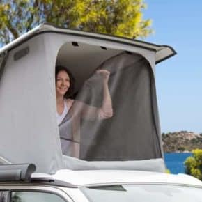 FLYOUT Moskitonetz für ISO-TOP MK VI für VW T6 California mit elektrohydraulischem Aufstelldach