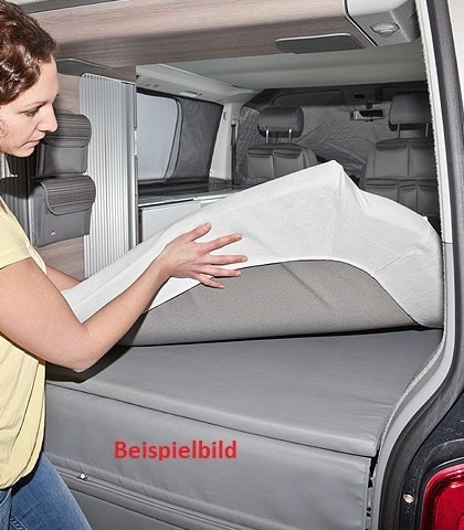 Sample picture iXTEND Fitted sheet for the bed in the rear of the Volkswagen Grand California 600, 2-piece, Nicki plush, iXTEND fitted sheet for the bed in the rear of the Volkswagen Grand California 600, 2-piece, single jersey, iXTEND fitted sheet for the loft bed in the Volkswagen Grand California 600, 2-piece, Nicki plush iXTEND fitted sheet for the loft bed in the Volkswagen Grand California 600, 2-part, single jersey