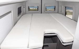 iXTEND Bettlaken für das Bett im Heck des Volkswagen Grand California 680, 3-tlg., Nicki-Plüsch