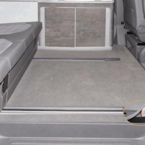 """Brandrup Teppich für VW T5 / T6 / T6.1Veloursteppich für Fahrgastraum der VW T6.1 California Modelle (ohne Beach) mit 2 Bodenschienen im Design """"Palladium"""", gleicher Brandrup Teppich auch für T5 / T6 erhältlich"""