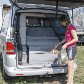 FLEXBAG rear for rear cargo space, elegant rear end for rear grille or rear board, suitable for VW T6 / T5 California (without beach)