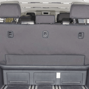 "Second Skin seat cover for the seat with 3 seats without center armrest in the VW T6.1 / T6 Multivan & Beach in the design ""Quadratic"""
