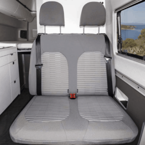 Second skin protective covers for the 2-seater bench / bed in the VW Grand California 600 and 680