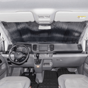 ISOLITE Outdoor PLUS insulation for VW T6.1 for the windshield outside and the cab side windows inside