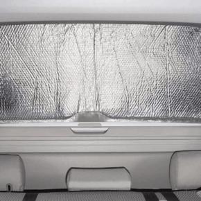 ISOLITE Inside Isolierung von Brandrup für das Fenster in der Heckklappe des VW T5 / T6 / T6.1 mit PKW-Verkleidung