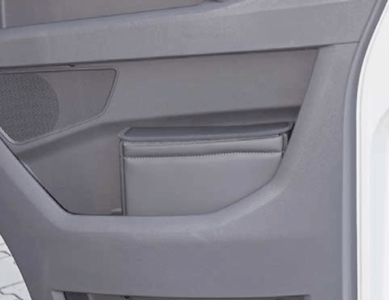 """MULTIBOX für die rechte Fahrerhaustür im VW Grand California 600 und 680, sowie VW Crafter ab 2017 im Design: """"Leder Palladium"""""""