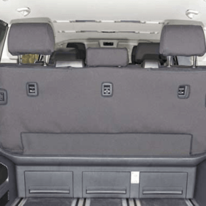 """Brandrup Second Skin protective cover for the seat with 3 seats without center armrest in the VW T6.1 / T6 Multivan in the design """"Circuit Titanium Black"""""""