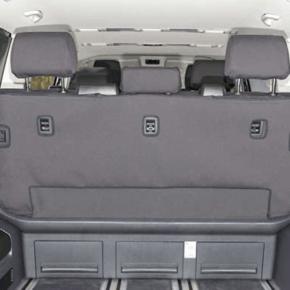 """Brandrup Second Skin Schonbezug für die Sitzbank mit 3 Sitzen ohne Mittelarmlehne im VW T6.1 / T6 Multivan im Design """"Circuit Titanschwarz"""""""