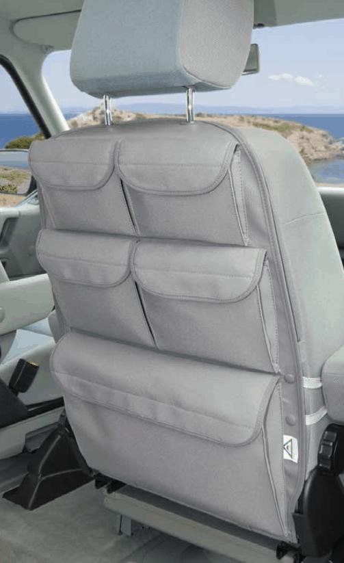 """UTILITY für die Rückenlehne des Fahrer-/Beifahrersitz VW T4 im Design """"Palladium"""""""