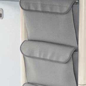 """UTILITY Taschen zur Anbringung am mittleren Kleiderschrank im VW T4 California Coach im Design: """"Palladium"""""""