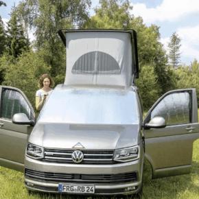 ISOLITE Outdoor PLUS für VW T6.1 / T6 / T5 für die Windschutzscheibe außen und 2 Fahrerhausfenster innen