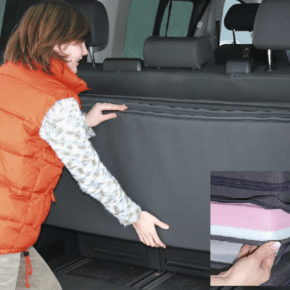 """Brandrup iXTEND folding bed for VW T6.1 Multivan and Beach with washable cover in the design: """"Titanium Black"""" - Wiest Online Shop"""