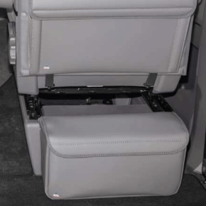 "Multibox CarryBag insulating carrier bag for attachment to the seat console behind the driver or front passenger seat for the VW T6.1 / T6 / T5 in the design: ""Leather Palladium"""