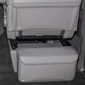 """Brandrup Multibox CarryBag Isoliertragetasche zur Anbringung an der Sitzkonsole hinter Fahrer- oder Beifahrersitz für den VW T6.1 / T6 / T5 im Design: """"Leder Palladium"""""""