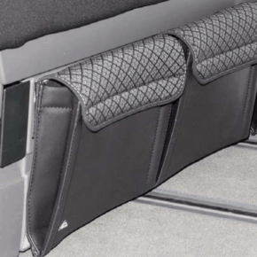 """Brandrup Utility Taschen für die Vorderseite des Bettkastens im VW T6.1 / T6 / T5 California Beach im Design """"Quadratic"""""""